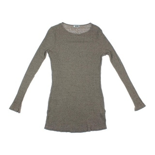 Three Dots Womens Knit Heathered Pullover Sweater - XL