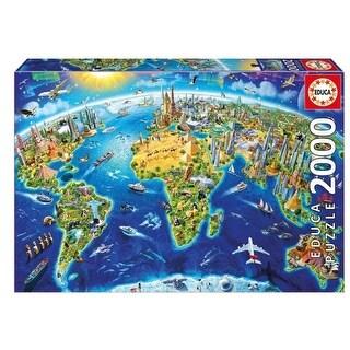 World Landmark Globe 2000 Piece Puzzle