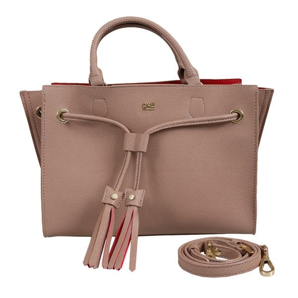 9058c6670 Shop Roberto Cavalli HXLPGQ 020 Beige Satchel Bag - 11.5-8-5.5 - On ...