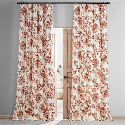 Exclusive Fabrics Indonesian Printed Cotton Hotel Blackout Curtain