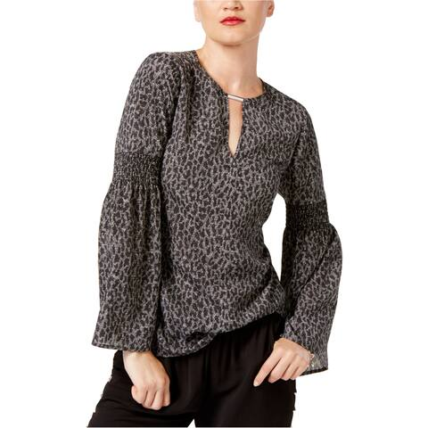 Michael Kors Womens Leopard Knit Blouse