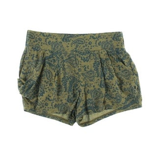 Free People Womens Rayon Paisley Casual Shorts