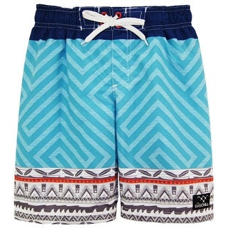 Big Chill Boys Tribal GEO Color Block Swim Trunk Rashguard (2 options available)