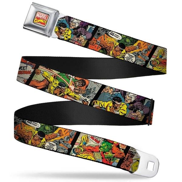 Marvel Comics Marvel Comics Logo Full Color 5 Classic Luke Cage Comic Scene Seatbelt Belt