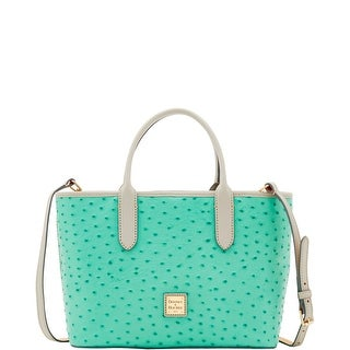 Dooney & Bourke Ostrich Brielle (Introduced by Dooney & Bourke at $228 in May 2017) - mint light grey