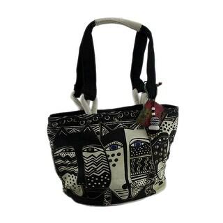 Laurel Burch Black & White Wild Cat Medium Tote Bag