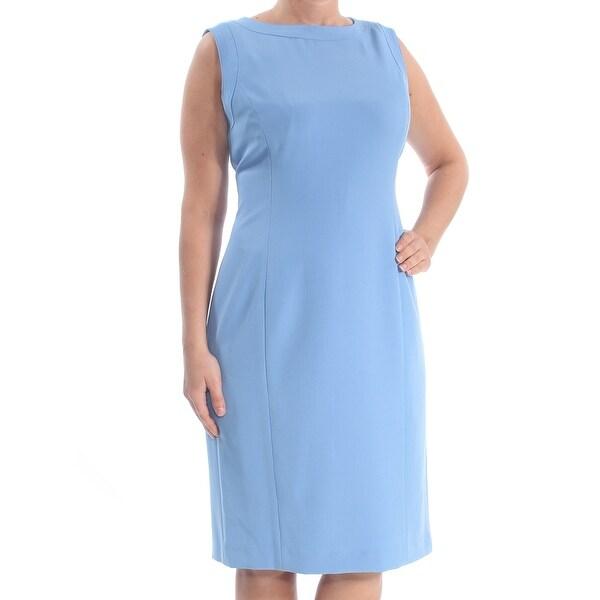 c8cd4e7b Shop KASPER Womens Blue Knee Length Sheath Evening Dress Size: 10 - Free  Shipping On Orders Over $45 - Overstock - 28145904