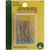 Size 30 - Dritz Quilting Crystal Glass Head Pins 100/Pkg