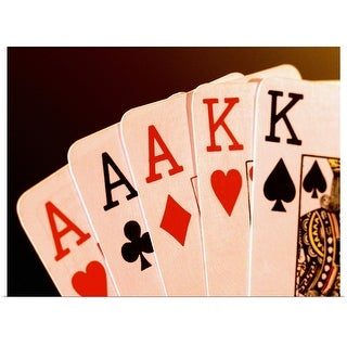 """""""Close-up of a hand of aces"""" Poster Print"""