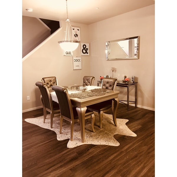 Clayton Pewter Gold Faux Cowhide Rug 62 X 8