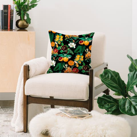 Deny Designs Fruit and Floral Reversible Throw Pillow (4 Size Options)