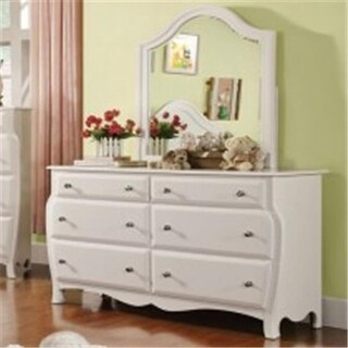 Furniture Of America IDF-7940M Roxana White Transitional Mirror