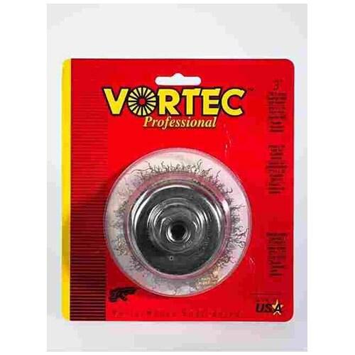 Weiler 36033 Vortec Pro Crimped Wire Cup Brush, 3