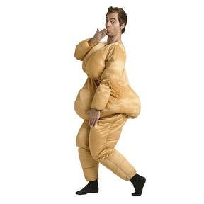Fat Suit Costume - Adult Funny Halloween Accessories - Standard - One Size