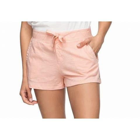 Roxy Womens Shors Orange Size Large L Cotton Chevron-Stitched Knit