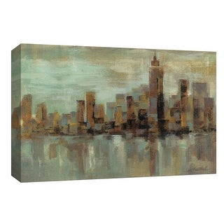 """PTM Images 9-154014  PTM Canvas Collection 8"""" x 10"""" - """"Misty Day in Manhattan"""" Giclee New York Art Print on Canvas"""