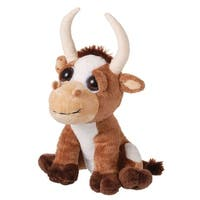 Gift Corral Western Kids Plush Longhorn Bright Eyes Brown