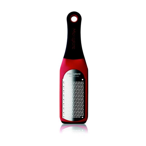 Microplane 42102 Artisan Series Fine Grater 18/8 Stainless Steel, Red