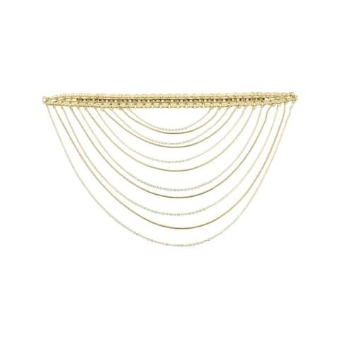 BCBG Max Azria Womens Choker Rhinestone Chain - Gold - O/S
