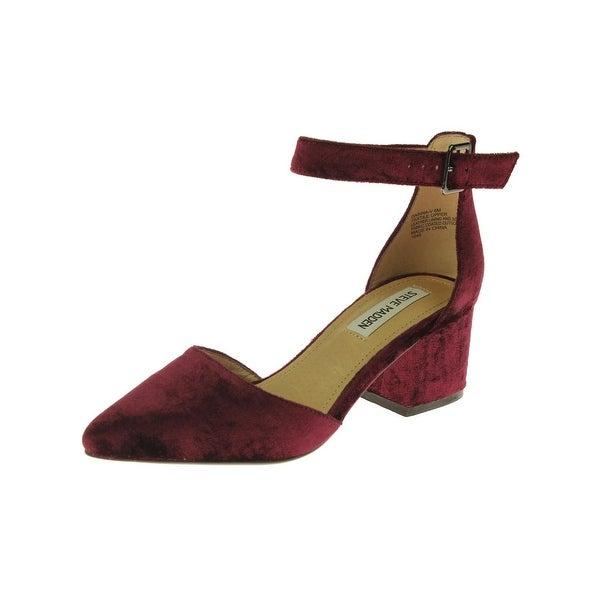 f07368bd5f0 Shop Steve Madden Womens Dainna-V Pumps Velvet Pointed Toe - Free ...