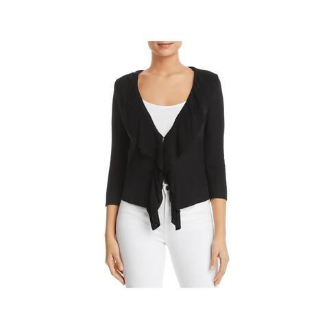 Donna Karan Womens Cardigan Sweater Knit 3/4 Sleeves