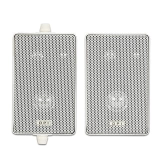 Goldwood Sound DPI-60W Indoor or Outdoor 3 Way Speakers White Mountable Pair