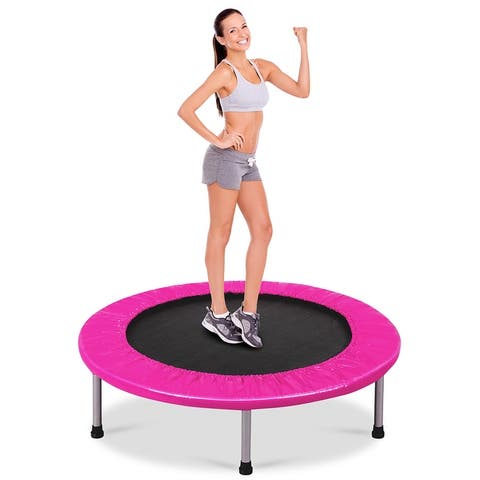 Costway 38'' Rebounder Trampoline Adults and Kids Exercise Workout