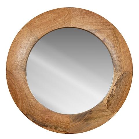 """Poly and Bark Suva 25"""" Round Wall Mirror"""