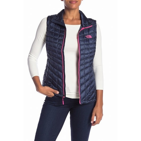The North Face Blue Women's Size Small S Full-Zip Vest Jacket