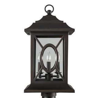 "Park Harbor PHEL2403 Kingston Manor 20"" Tall 3 Light Outdoor Post Light
