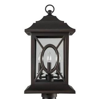 "Park Harbor PHEL2403 Kingston Manor 20"" Tall 3 Light Outdoor Post Light"