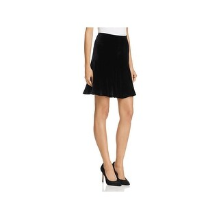 Theory Womens Abrilin A-Line Skirt Velvet Mini