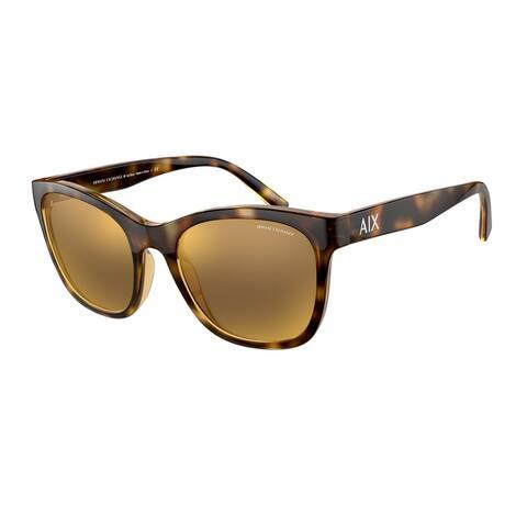 Armani Exchange AX4105S 82135A 54 Shiny Havana Woman Phantos Sunglasses