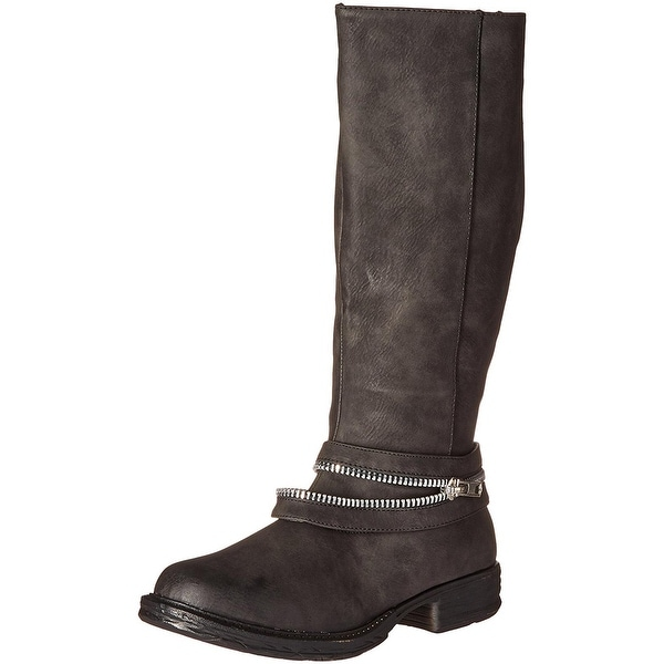 2 Lips Too Womens Too Find Riding Boots Faux Leather Knee-High
