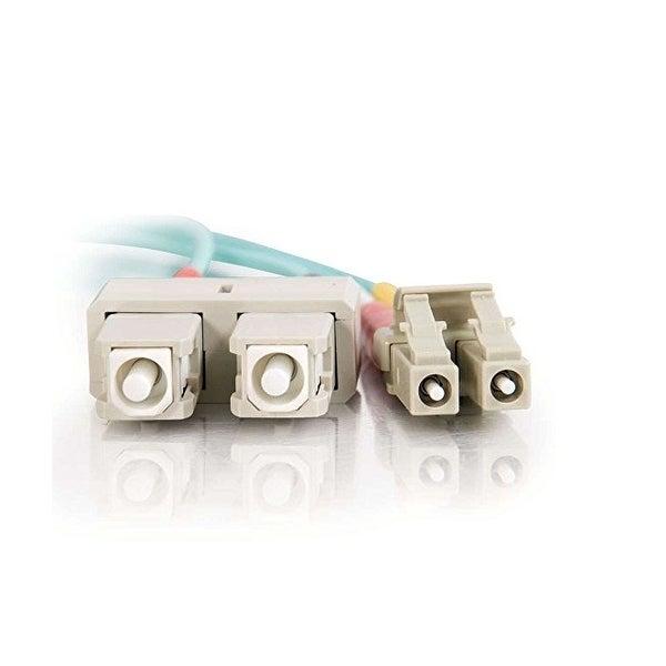 C2g - C2g 3M Lc-Sc 10Gb 50/125 Duplex Multimode Om3 Fiber Cable - Aqua - 10Ft Om3 Cabl