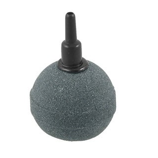 "Unique Bargains Unique Bargains Sintered Round Dark Gray Mineral Bubbles Air Stone 2.6"" for Aquarium Tank"