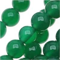 Green Agate Round Gemstone Beads 6mm (15.5 Inch Strand)