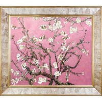 Branches of an Almond Tree in Blossom, Pearl Pink by Vincent Van Gogh Framed Hand Painted Oil on Canvas