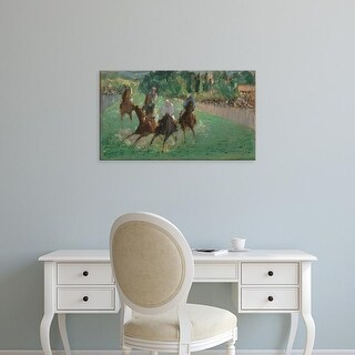 Easy Art Prints National Gallery of Art's 'At The Races' Premium Canvas Art