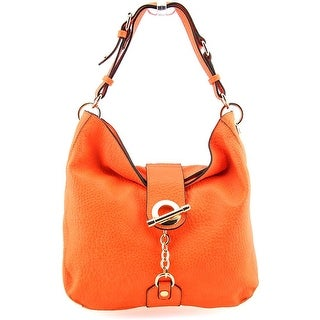 Melie Bianco Anna Women Faux Leather Orange Hobo NWT