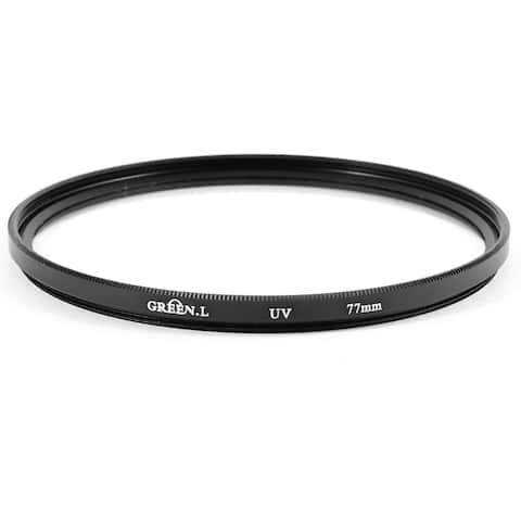Unique Bargains 77mm Protector Ultra-Violet UV Filter Lens Black for Canon Nikon DSLR Camera