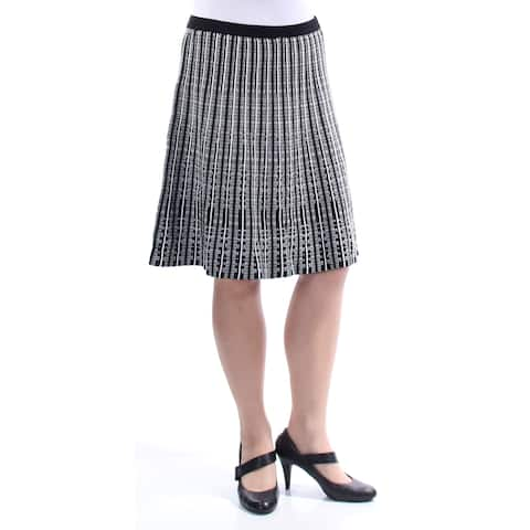ANNE KLEIN Womens Black Embroidered Knee Length A-Line Skirt Size: XS