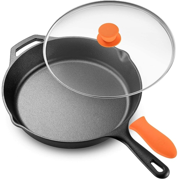 Legend Cast Iron Skillet with Glass Lid & Silicon Handle. Opens flyout.