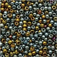 Toho Round Seed Beads 11/0 721 - Galvanized Blue Gold (8 Grams)