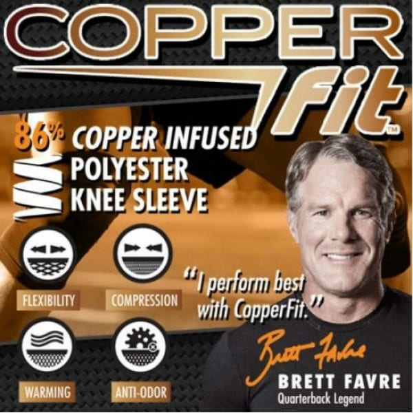 80d6444692 Shop Copper Fit CPRFKN-LG Copper Infused Knee Sleeve, Large, As Seen On TV  - Free Shipping On Orders Over $45 - Overstock - 25432321