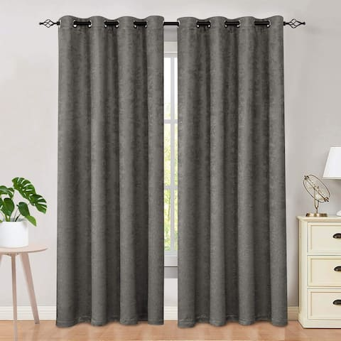 Subrtex Blackout Curtain Solid Thermal Window Drapes Panel Pair