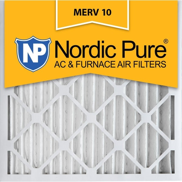 3 Piece Nordic Pure 16x16x2 MERV 10 Pleated Plus Carbon AC Furnace Air Filters 16 x 16 x 2