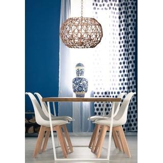 Link to Elle Natural Rope 3 Light Chandelier Similar Items in Pendant Lights