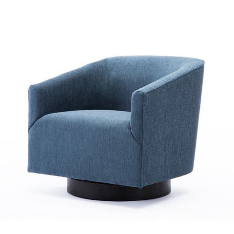 Copper Grove Pregrada Wood-base Swivel Chair - See Product Description