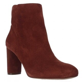 I35 Taytee Block Heel Dress Ankle Boots, Spiced Orange